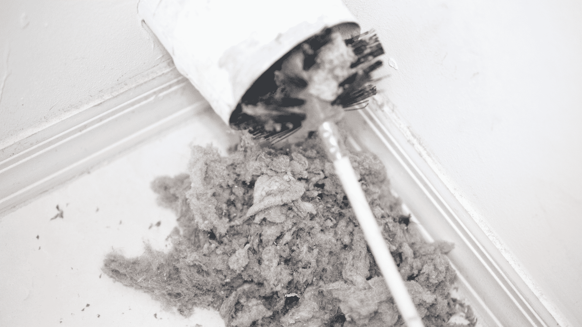 using dryer vent cleaning kit