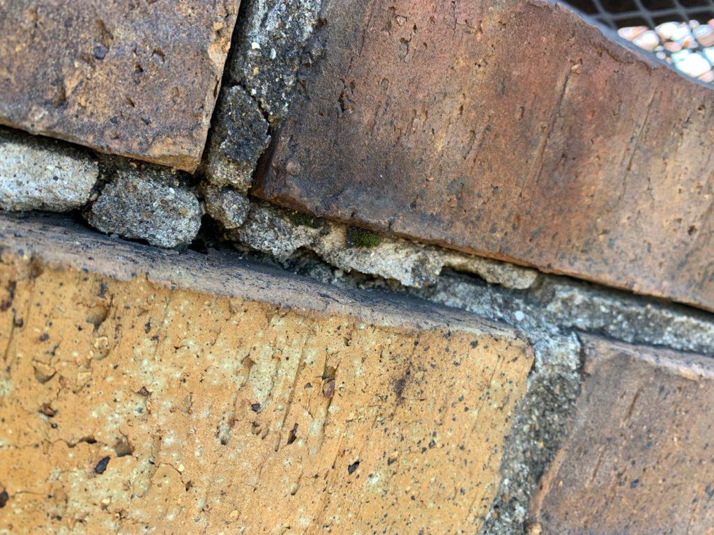 damaged or missing mortar joints